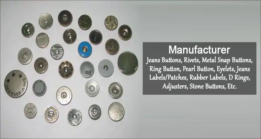 Jeans Button Manufacturer,Metal Snap Buttons Supplier,Wholesaler,India