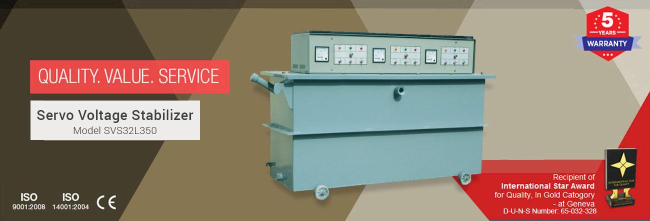 Servo Voltage Stabilizer Model SVS32L350