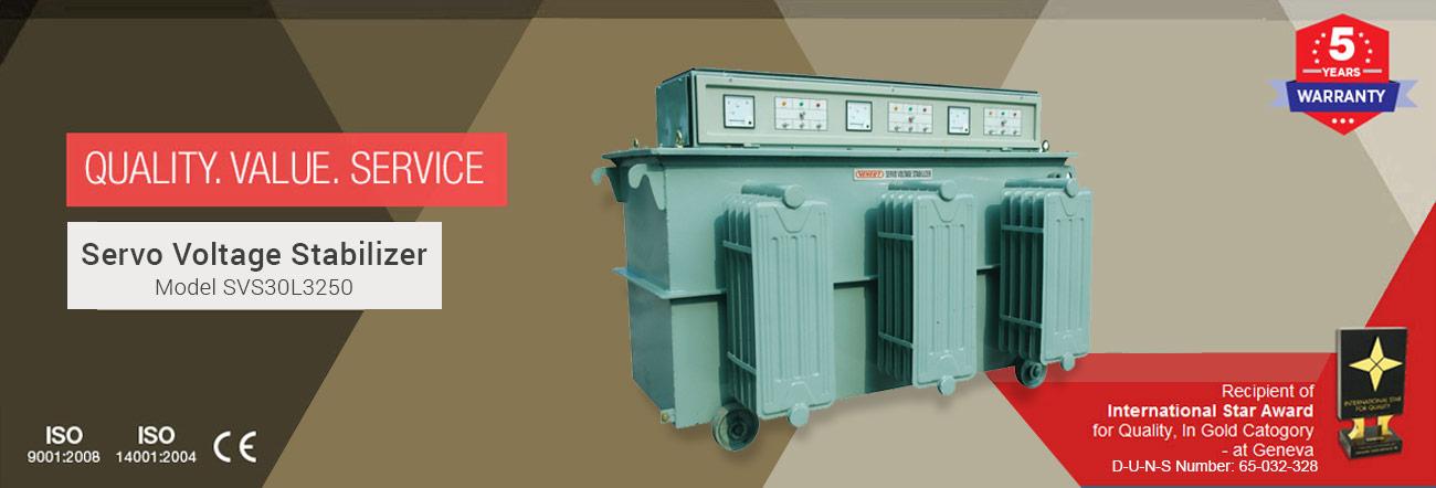 Servo Voltage Stabilizer Model SVS30L3250