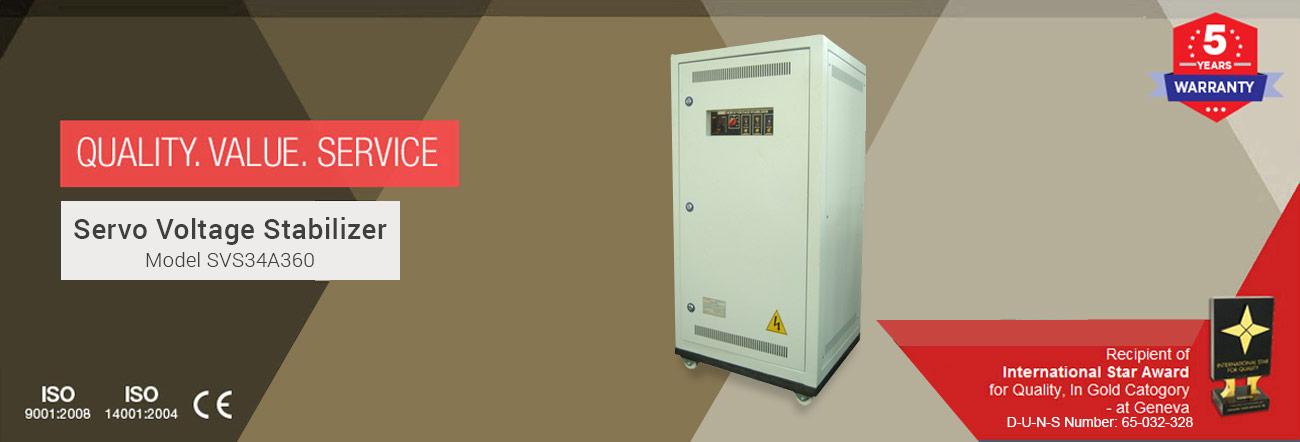 Servo Voltage Stabilizer Model SVS34A360