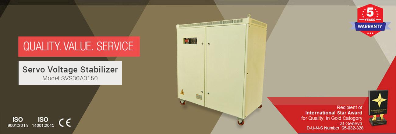 Servo Voltage Stabilizer Model SVS30A3150