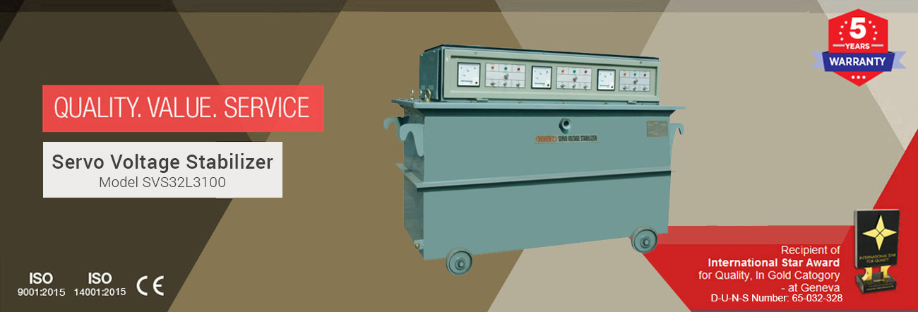 Servo Voltage Stabilizer Model SVS32L3100