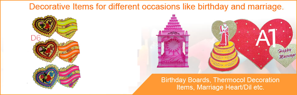 Party Decoration Items Manufacturer Thermocol Decoration Items