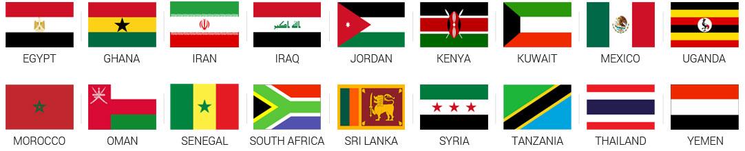 Países conectados