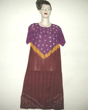 Ladies Cotton Tye-Dye Dress