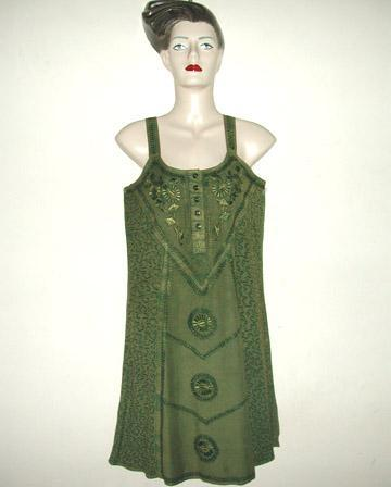 Ladies Rayon Short Dress