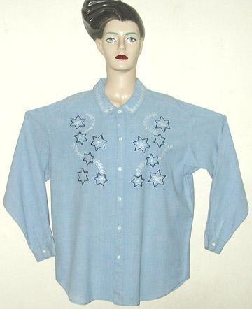 Cotton Embroidered Ladies Shirt