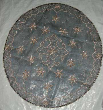 Tissue Table Cloth with Naqshi Embroidery