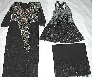 Silk Beaded Dresses & Scarves