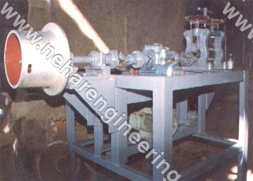 Wire Pointing cum Stringing Machine