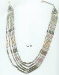 Tourmaline Necklace with Sterling Silver Bali Beads