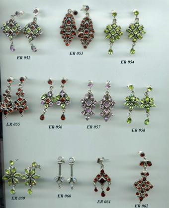 Fine Silver Jewelry, Cut Stone Earrings