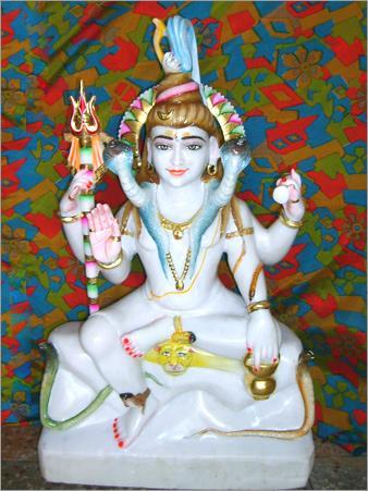 Shankar Ji In White Marble