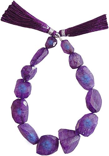 Big Stone Purple Moon Stone String