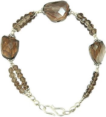 Smokey Quartz Beads Bracelet
