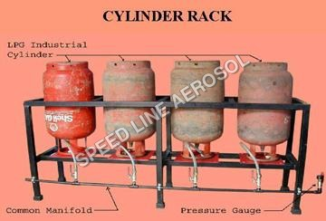 LPG Gas Cylinder Storage Rack