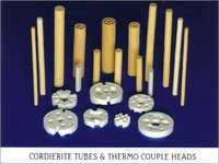 Cordierite Refractory Multi Hole  Tubes & Thermocouple Heads / Beads