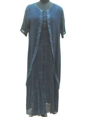 Half Sleeves Long Dress