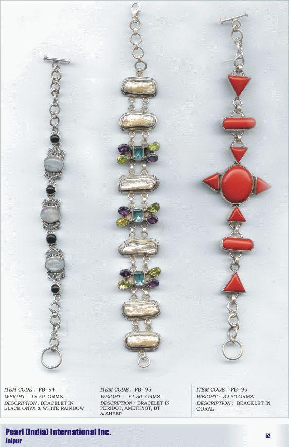 Bracelets in Various Semi Precious Stones