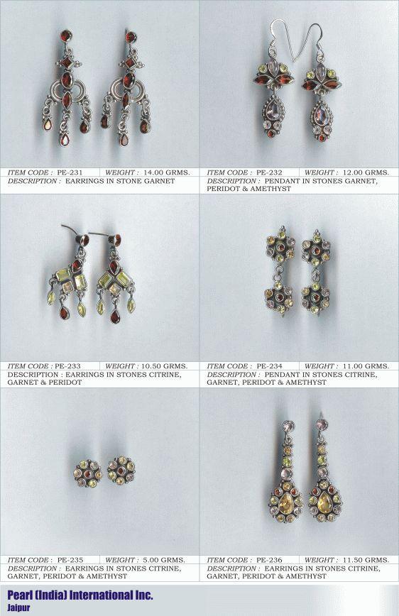 Earrings in Various Semi Precious Stones
