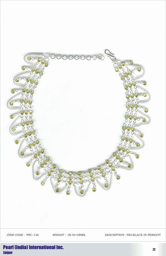Necklace in Peridot