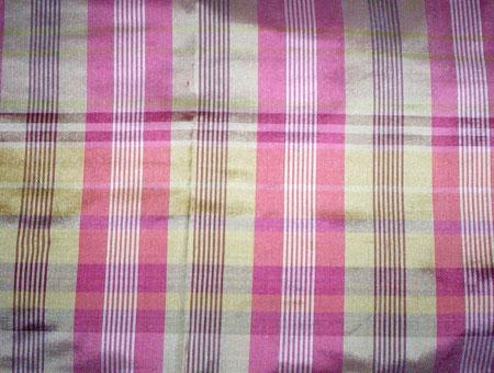 Checked Jacquard Silk Fabric