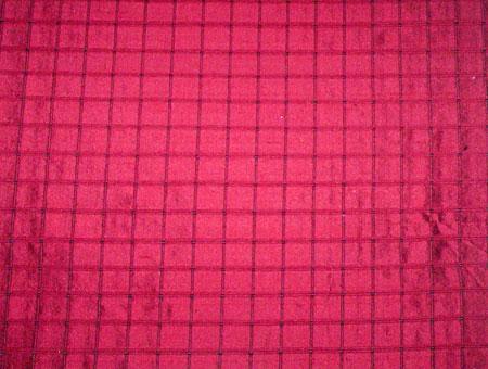 Dupion Checked Silk Fabric