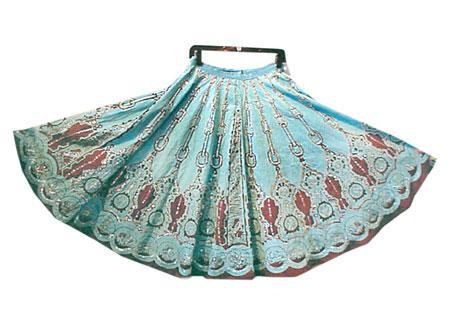 Printed Zardosi Skirt