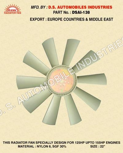Nylon Radiator Fan