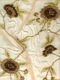 Hand Embroidery on Silk Fabric