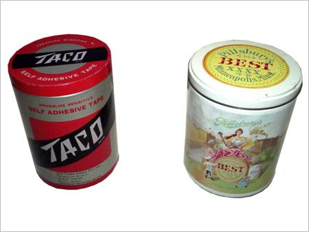 Cylindrical Tin Containers