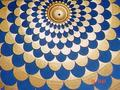 Gold Leaf  and Blue Colour Painting on Celling .Udai Vilas,Oberoi Hotel,Udaipur
