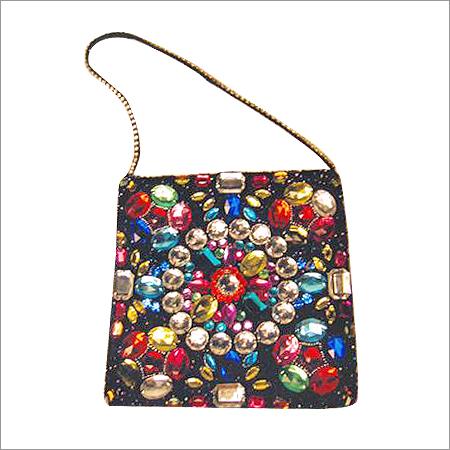 Multicolored Stone Bag