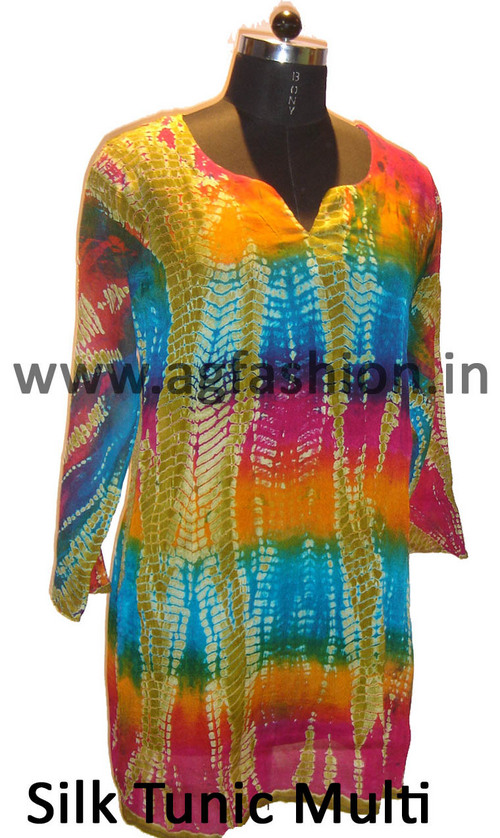 Multicolor Silk Tunic