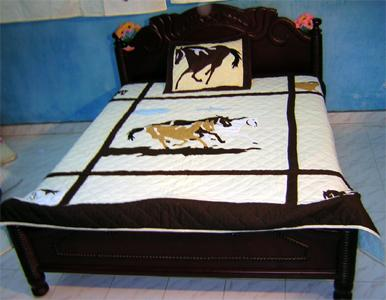 Applique Embroidery Handmade Quilt