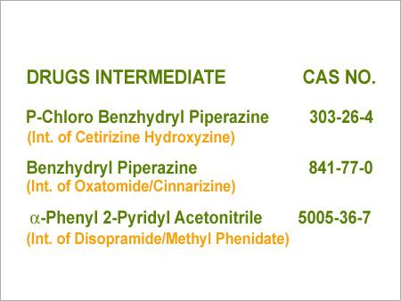 P Chloro Benzhydryl Piperazine