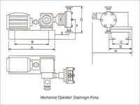 Mechanical Operated Diaphragm Pump