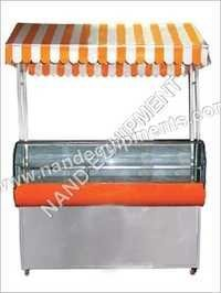 Chaat Counter with Umbrella