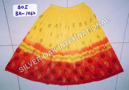 Hand Block Print Skirt