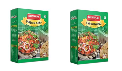 Dhanhar Kitchen King Masala for Healthy Cooking, 200 Grams (100G x 2 Pack)