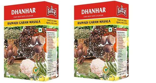 Dhanhar Rajwadi Garam Masala Powder for Healthy and Flavourful Cooking, 400 Grams (200G x 2 Pack)