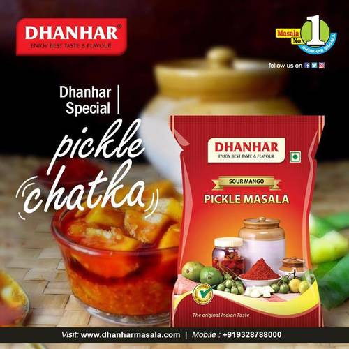 Dhanhar Sour Mango Aachar (Pickle) Masala | Made with Hand Picked Ingredients, 500 Grams