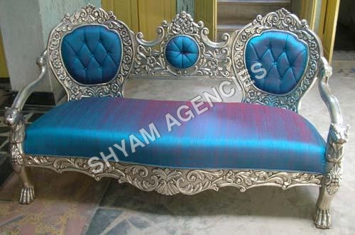 Silver Metal Sofa
