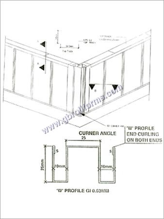 W Profile For Wall Pannels