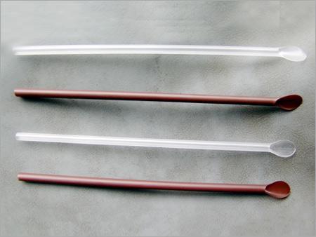 Plastic Spoon Straws