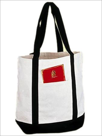 Canvas Bag with Pocket & Reinfoced Handle