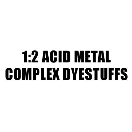 Acid Metal Complex Dyestuffs