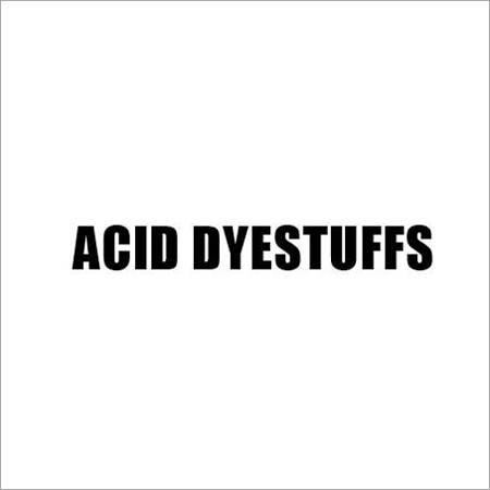 Acid Dyestuffs