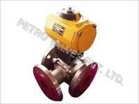 3 Way Actuated Ball Valve