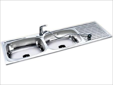 Double Sinks With Drain Board
